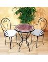 Marokkanischer Mosaiktisch Renak 60 cm mit Stühlen