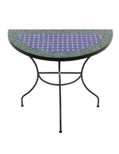 Halbrunder Mosaiktisch Fassia 40x80cm