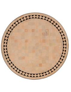 Marokkanischer Mosaiktisch Yasier schwarz 60 cm