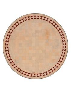 Marokkanischer Mosaiktisch Yasier rot 60 cm