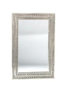 Orientalischer Silberspiegel Meraah 40x60cm
