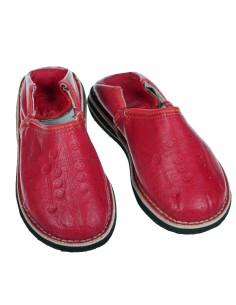 Orientalische Lederschuhe Tafrout rot