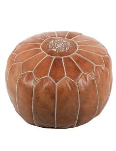 Marokkanisches Leder-Sitzkissen Nagma ø 50cm