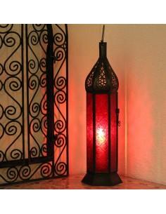 Marokkanische Laterne Raki rot 40cm