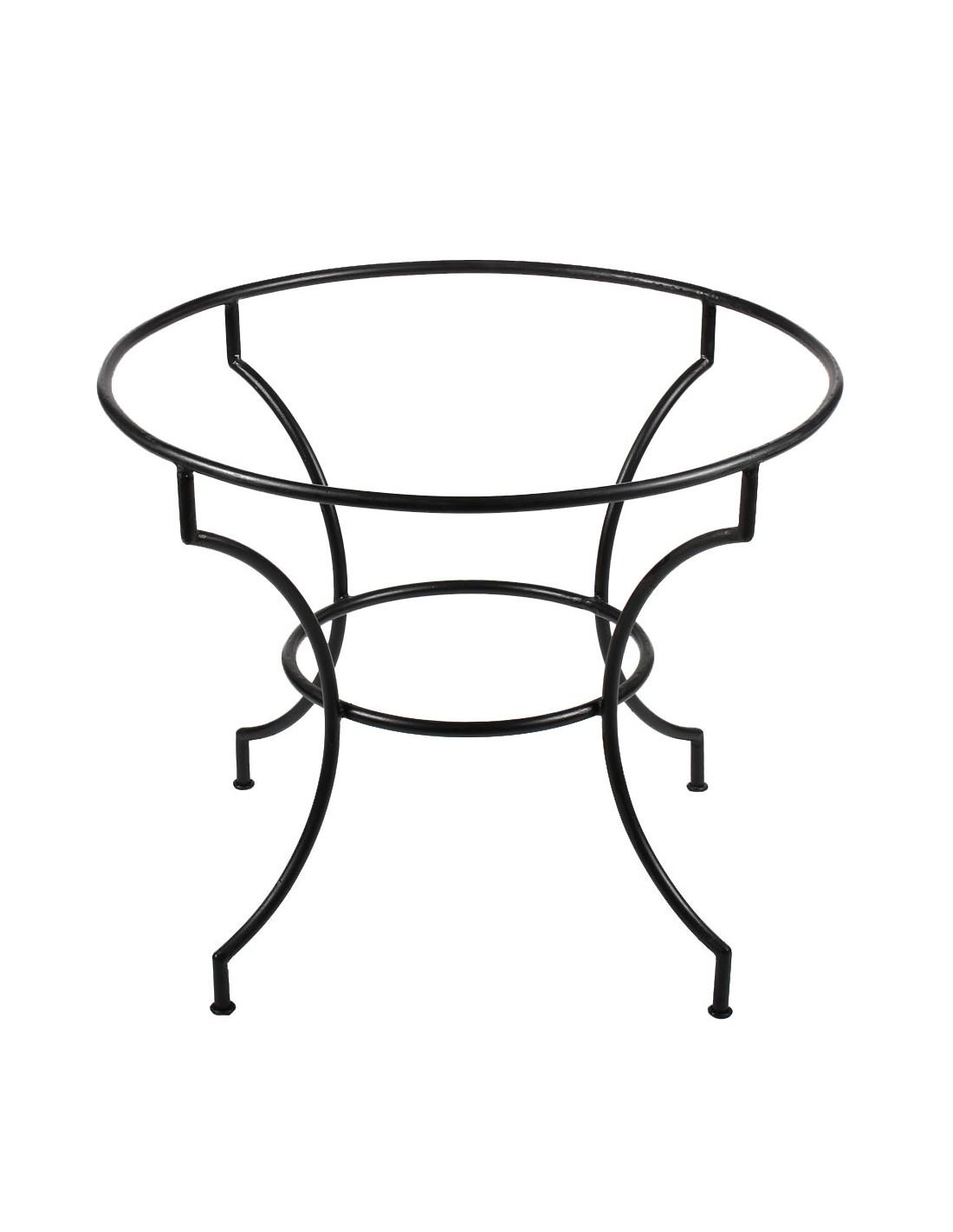 Tischgestell schmiedeeisen 90cm rund marokko galerie for Gartendeko schmiedeeisen