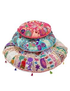 Indisches Bodenkissen Jevana 3 Größen | 4 Farben