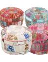 Indisches Sitzkissen Patchwork Pouf Sashi | 4 Farben