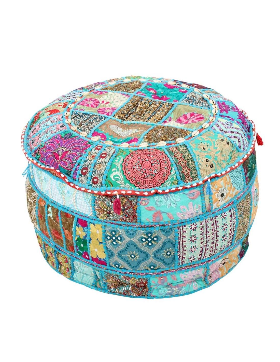 indisches sitzkissen pouf sashi 55cm im albena shop. Black Bedroom Furniture Sets. Home Design Ideas
