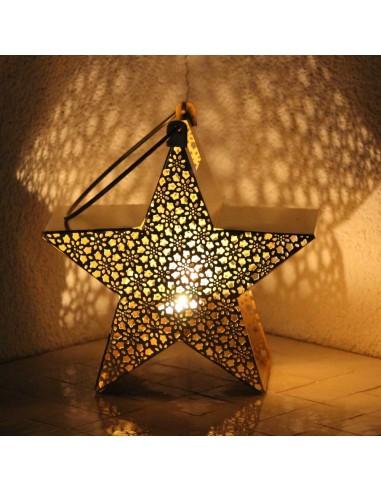 Stern-Windlicht Chunni 22cm in 3 Farben