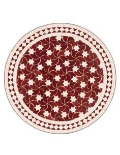 Marokkanischer Mosaiktisch Maar rot 60 cm