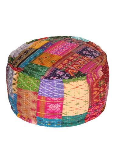 orientalisches sitzkissen indischer pouf amita bunt im albena shop. Black Bedroom Furniture Sets. Home Design Ideas