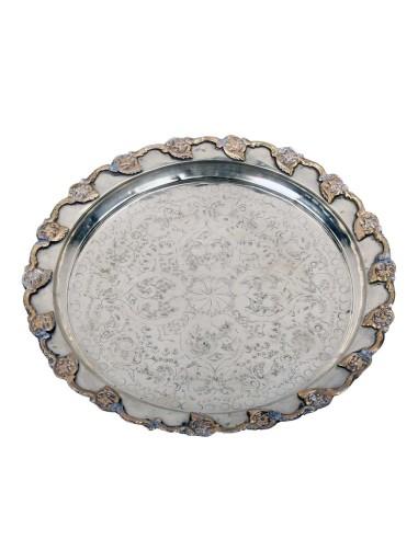 Marokkanisches Silbertablett Tasiv 45cm Antik Nr.15