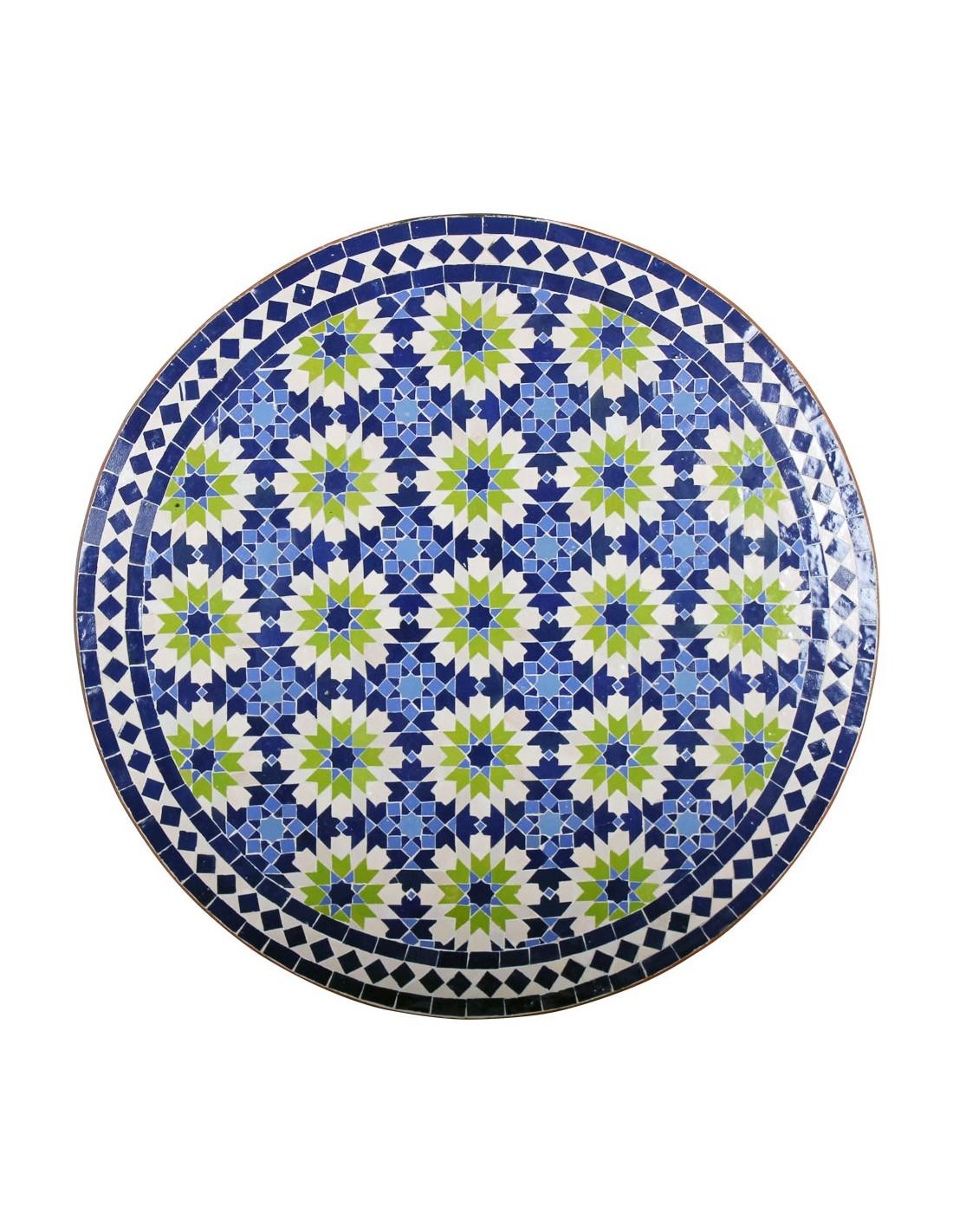 Mosaiktisch iras 80cm rund der marke albena marokko galerie for Marokkanischer mosaiktisch