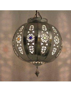 Marokkanische Lampe Silberkugel Yali