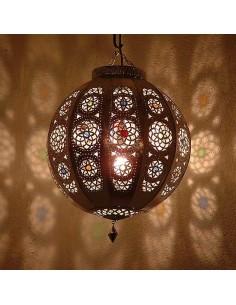 Orientalische Hängelampe Rana silber