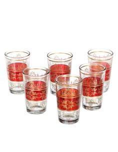 6 orientalische Teegläser Tunis rot