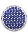 Marokkanische Mosaikplatte Maar blau 80 cm