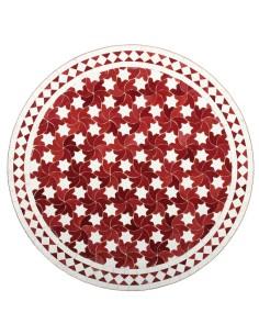 Marokkanischer Mosaiktisch Maar rot 80 cm