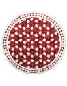Marokkanische Mosaikplatte Maar rot 80 cm