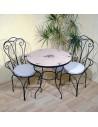 Marokkanischer Mosaiktisch Nura 80 cm mit Stühlen
