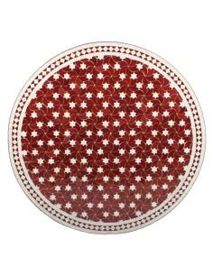 Marokkanischer Mosaiktisch Maar rot 100 cm