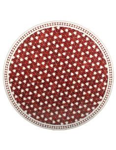 Marokkanischer Mosaiktisch Maar rot 120 cm
