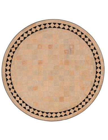 Marokkanische Mosaikplatte Yasier schwarz 60 cm