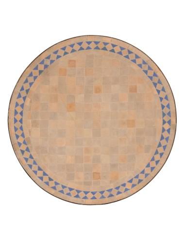 Marokkanische Mosaikplatte Yasier aqua 60 cm