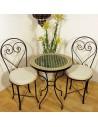 Marokkanischer Mosaiktisch Mebo 60 cm mit Stühlen