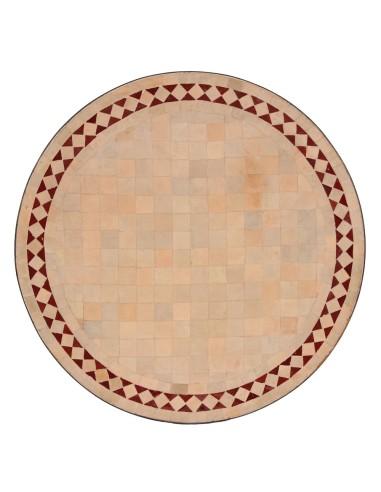Marokkanische Mosaikplatte Yasier rot 60 cm