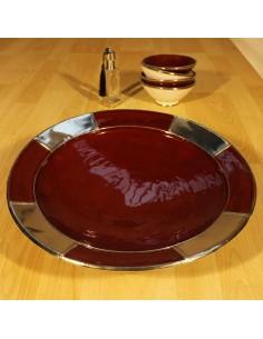 Marokkanische Keramikschale Ilmet rot