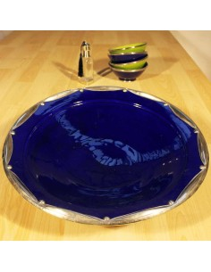 Marokkanische Keramikschale Silvet blau