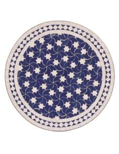 Marokkanischer Mosaiktisch Maar blau 60 cm