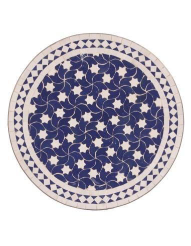 Marokkanische Mosaikplatte Maar blau 60 cm