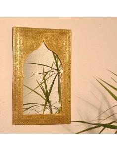 Orientalischer Messingspiegel Casa 41x27cm