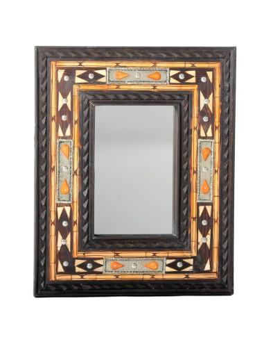 Marokkanischer Zederholz Spiegel Dera 48x39cm