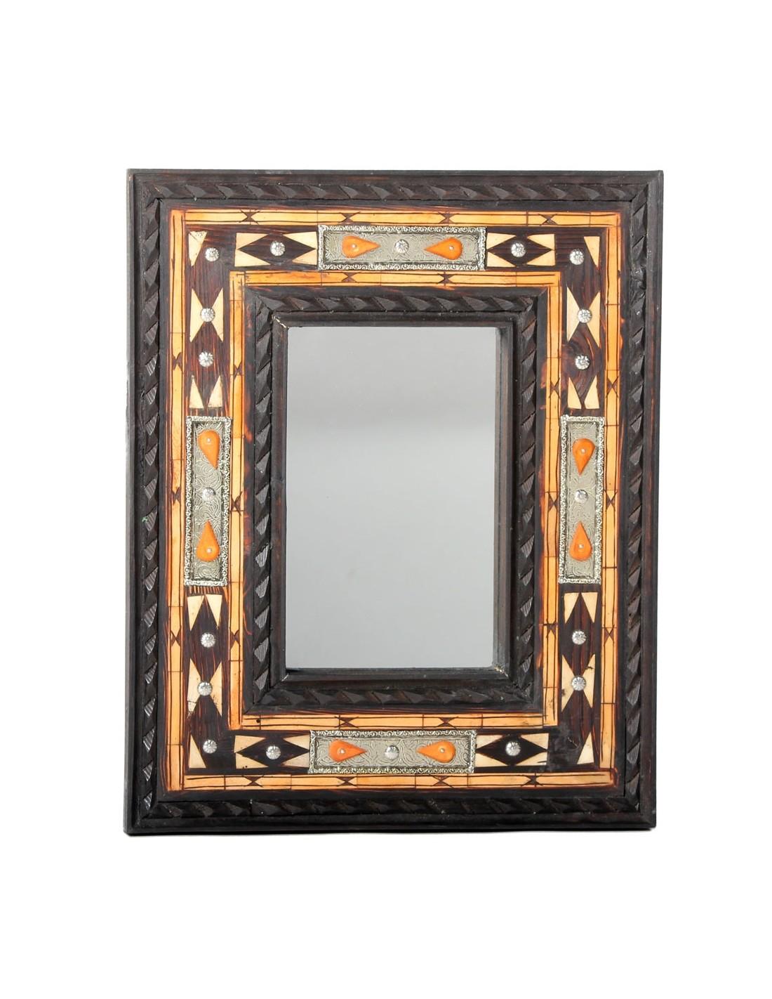Spiegel aus Zedernholz Dera 48x39cm - Marokko Galerie