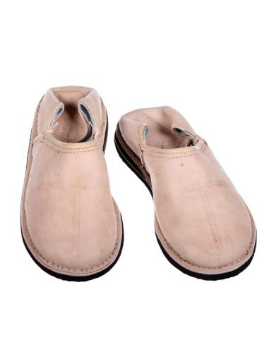 albena Marokko Galerie Unisex Marokkanische Schuhe Leder Pantoffel Tafrout (38, Natur)