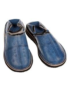 Orientalische Lederschuhe Tafrout blau