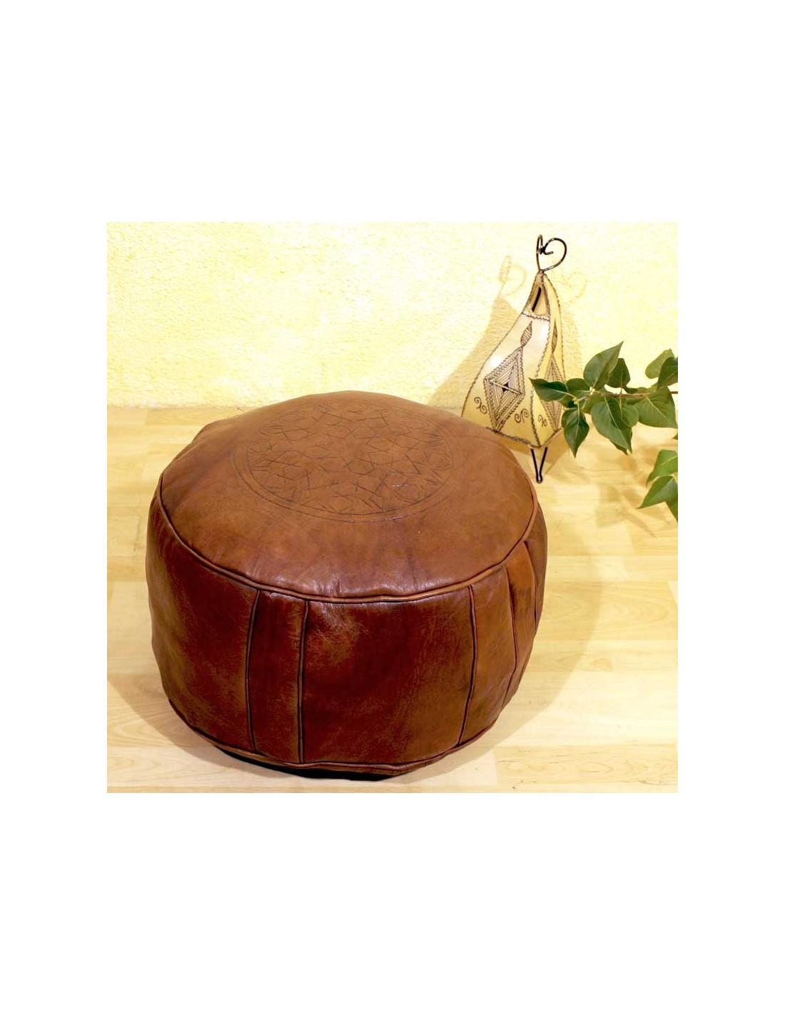 ledersitzkissen poufs tabaa braun 50cm albena marokko galerie. Black Bedroom Furniture Sets. Home Design Ideas