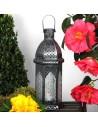 Orientalisches Windlicht Glas Aila weiss