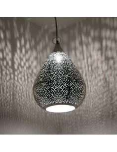 Orientlampe Najia silber 42cm