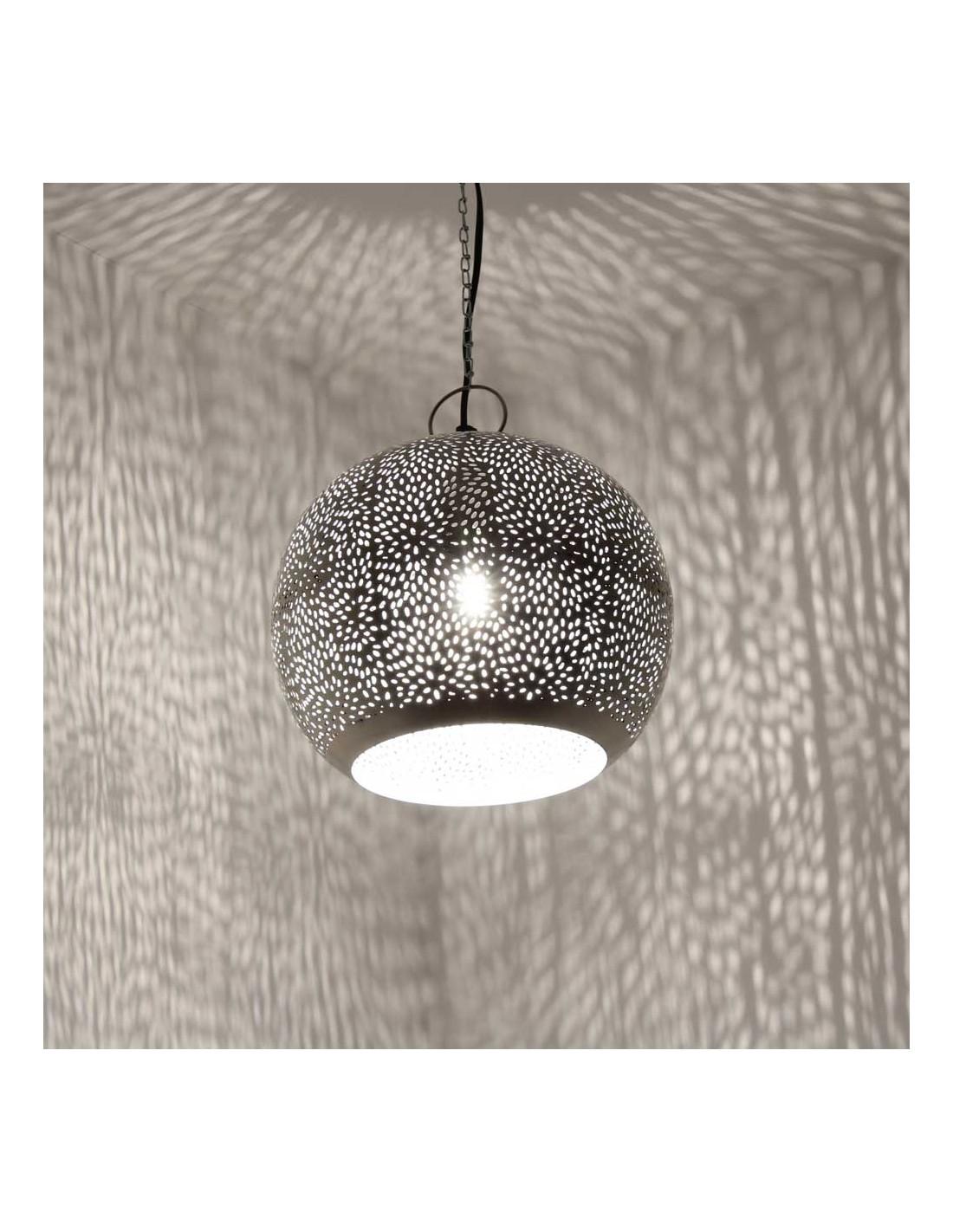 orientalische h ngelampe jandra 29cm in silber albena shop. Black Bedroom Furniture Sets. Home Design Ideas