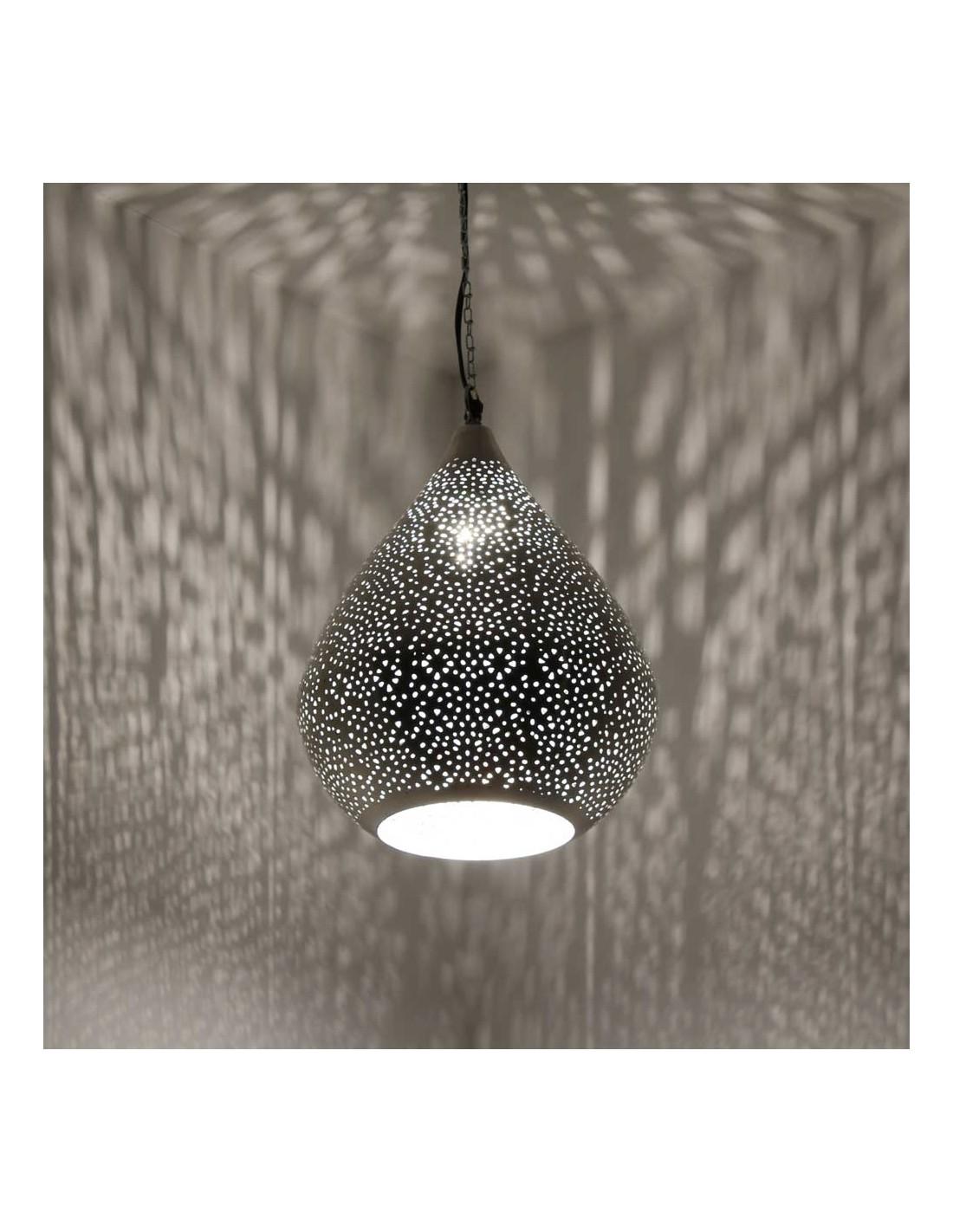 orientalische tischlampe dipa 34cm in silber albena shop. Black Bedroom Furniture Sets. Home Design Ideas