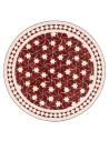Marokkanische Mosaikplatte Maar rot 60 cm