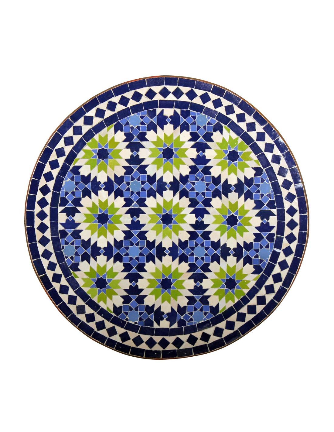 Mosaiktisch iras 60cm rund bei albena marokko galerie for Marokkanischer mosaiktisch