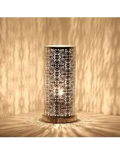 Orientalische Stehlampe Laika silber 30cm