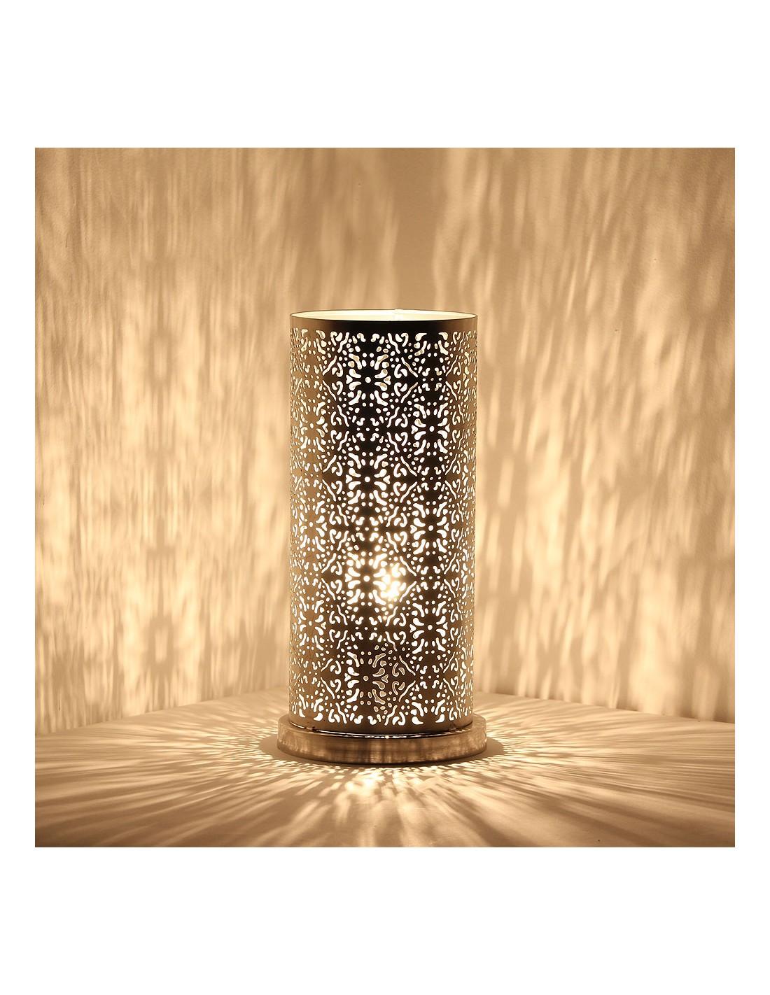 orientalische tischlampe lakia 30cm in silber albena shop. Black Bedroom Furniture Sets. Home Design Ideas