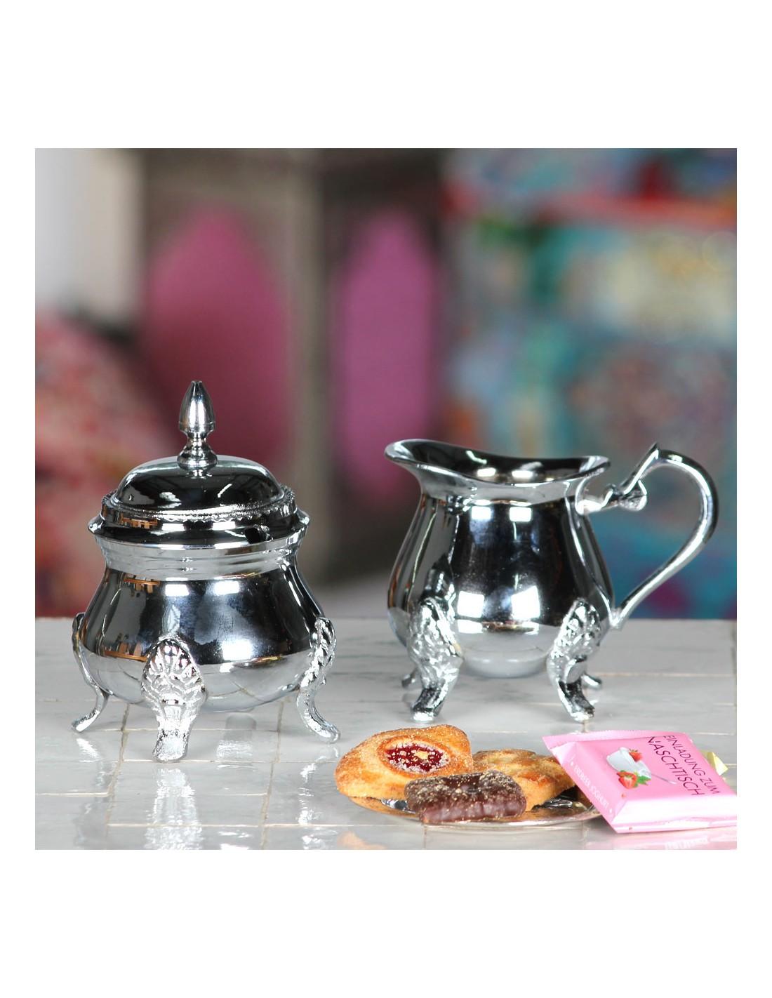 milch zucker set im orientalischen stil milchk nnchen mit zuckerdose. Black Bedroom Furniture Sets. Home Design Ideas