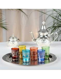 8 orientalische Teegläser/Windlichtgläser Faiz bunt